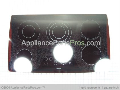 Bosch Glued Glass Assembly CET365 Blk 187296 from AppliancePartsPros.com