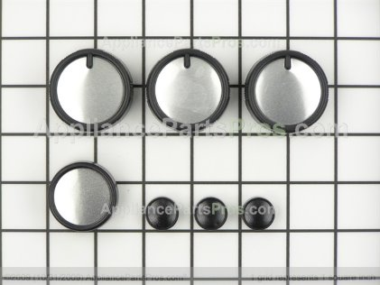 Bosch Knob Kit, Stainless Steel (7 Knobs) 414201 from AppliancePartsPros.com
