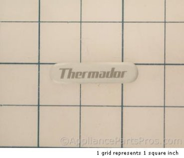 Bosch Nameplate, Thermador White 00411331 from AppliancePartsPros.com