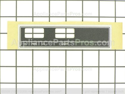 Broan Nameplate 97010709 from AppliancePartsPros.com