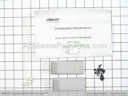 Dacor Control Bezel, Black (RSD30/RSE30) 76480B from AppliancePartsPros.com