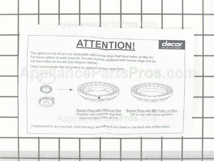 Dacor Top Burner Spark Igniter 76482-001 from AppliancePartsPros.com