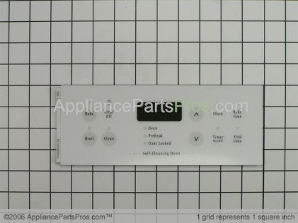 Frigidaire Clock Overlay (white) 316220804 from AppliancePartsPros.com