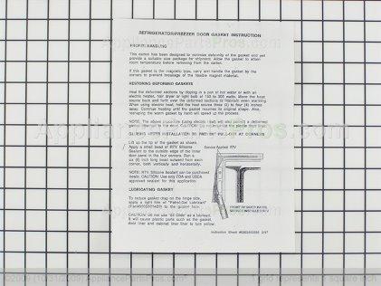 Frigidaire Gasket-Door, White 216481201 from AppliancePartsPros.com