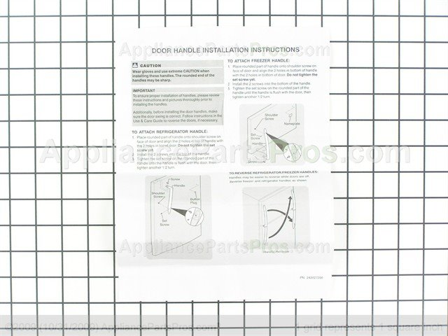 Frigidaire 241977901 Handle Kit Stainles