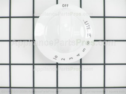Frigidaire Knob, Control , White 318196140 from AppliancePartsPros.com