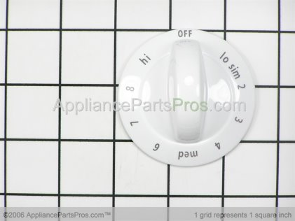 Frigidaire Knob, Control , White 318196633 from AppliancePartsPros.com