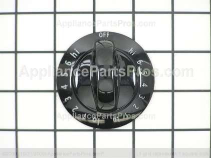 Frigidaire Knob, Dual Control , Black 318196631 from AppliancePartsPros.com