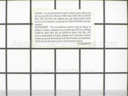 Frigidaire Label 5304440334 from AppliancePartsPros.com
