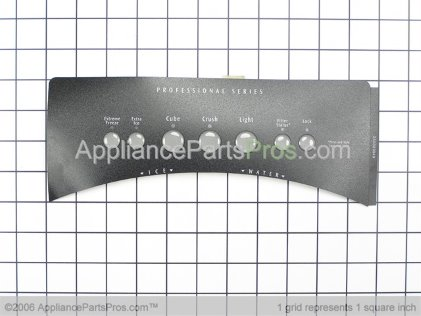 Frigidaire Label-Module Cover,stainless 240323949 from AppliancePartsPros.com