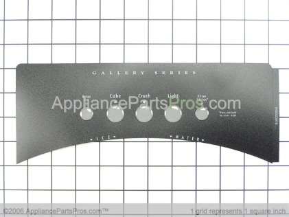 Frigidaire Label-Module Cover,black 240323976 from AppliancePartsPros.com
