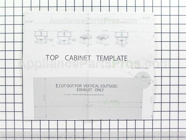Top Cabinet Template Ge Microwave