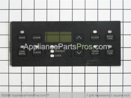 Frigidaire Overlay-Clock 316101514 from AppliancePartsPros.com