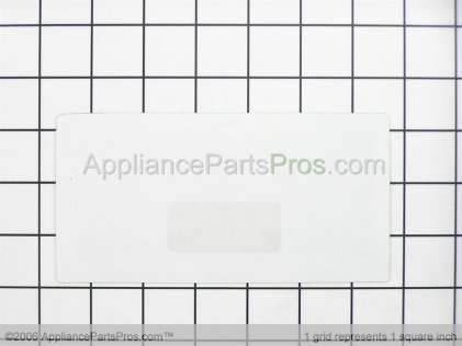 Frigidaire Overlay`clock `white 316220700 from AppliancePartsPros.com