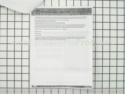 Frigidaire Owners Manual 316488500 from AppliancePartsPros.com