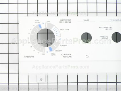 Frigidaire Panel-Control White 131621600 from AppliancePartsPros.com