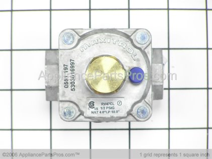 Frigidaire Regulator 1/2X1/2 5303016997 from AppliancePartsPros.com