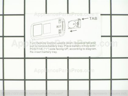 Frigidaire Remote Control 5304476866 from AppliancePartsPros.com
