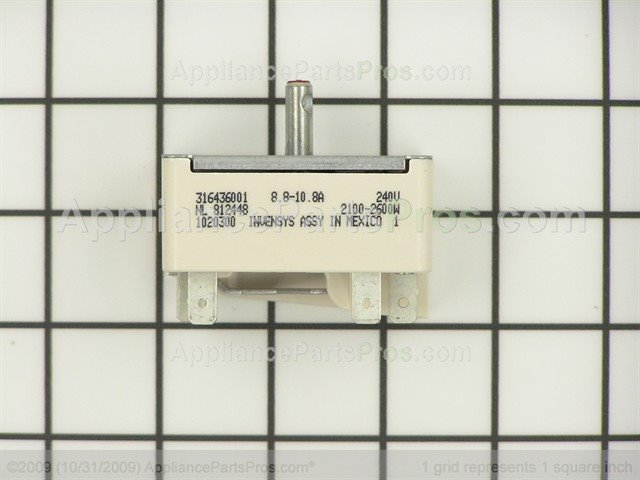 frigidaire large surface element switch from - Frigidaire