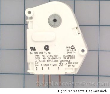 Frigidaire Timer-Defrost 218724501 from AppliancePartsPros.com