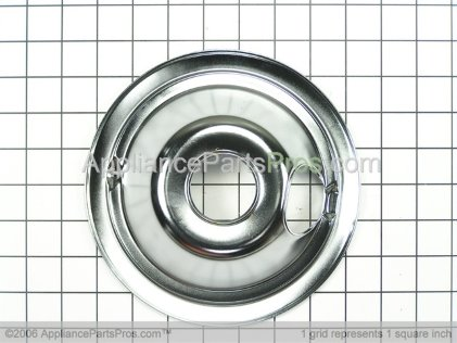 GE 6 Inch Drip Pan WB32X5075 from AppliancePartsPros.com