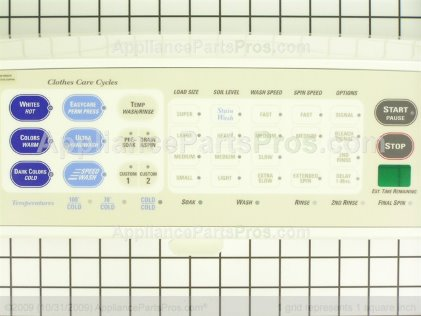 GE Backsplash Asm Cc WH42X10502 from AppliancePartsPros.com