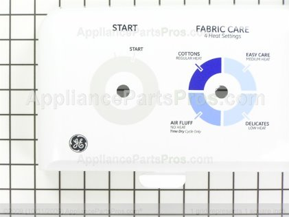 GE Bkspl. Asm. & Graph.wh WE19M1678 from AppliancePartsPros.com