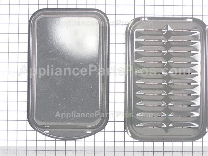 GE Broiler Pan Set Small WB48X10055DS from AppliancePartsPros.com