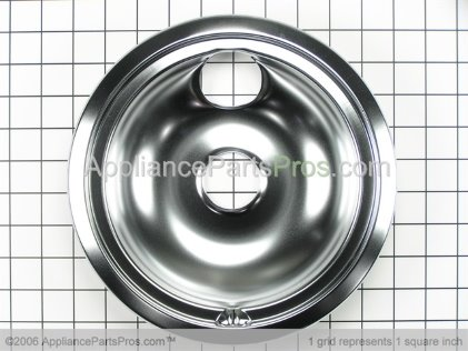 "GE Burner Bowl 8"" Chrome WB32X5091 from AppliancePartsPros.com"