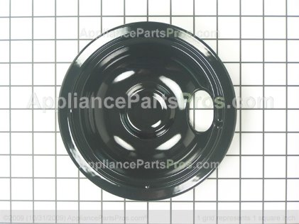 "GE Burner Pan 6"" Black WB32X5105 from AppliancePartsPros.com"