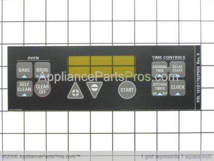 GE Clock Plate-Black WB27K5337 from AppliancePartsPros.com