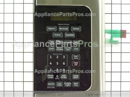 GE Contol Panel Asm Ss WB07X11054 from AppliancePartsPros.com