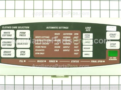 GE Control Pane WH42X10262 from AppliancePartsPros.com