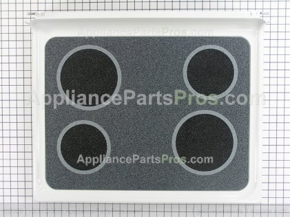 GE Cooktop and Glass Assembly WB57K10055 from AppliancePartsPros.com