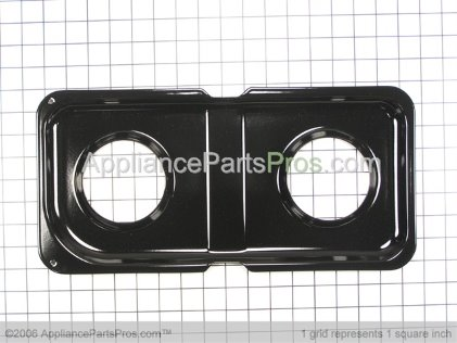 GE Double Drip Pan WB34K10010 from AppliancePartsPros.com