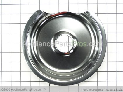 "GE Drip Pan 8"" Chrome WB32X5036 from AppliancePartsPros.com"