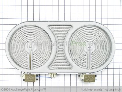 GE Dual Radiant Element Assembly (4400W) WB30T10046 from AppliancePartsPros.com