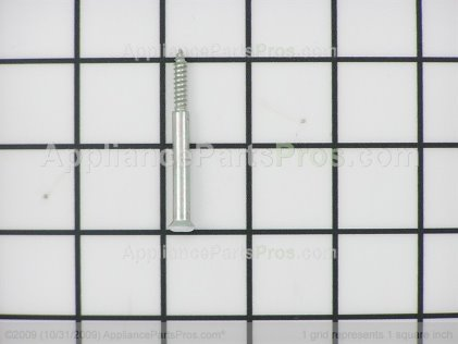 GE End Cap Screw (white) WB01K10004 from AppliancePartsPros.com