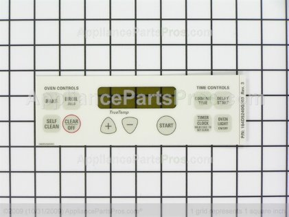 GE Faceplate Graphics As WB27T10525 from AppliancePartsPros.com