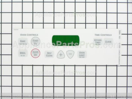GE Faceplate Graphics WB27T10687 from AppliancePartsPros.com
