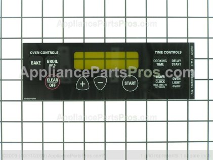 GE Faceplate WB27T10589 from AppliancePartsPros.com