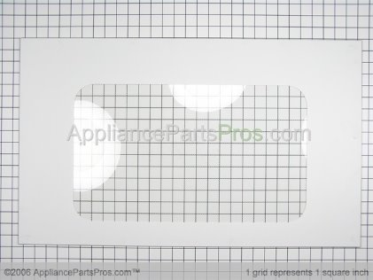 GE Glass Ovn Dr Otr (wht) WB57T10160 from AppliancePartsPros.com