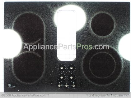 GE Glass Top Asm. Bk WB61T10078 from AppliancePartsPros.com