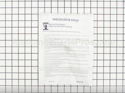 GE Hinge Asm WB10X10078 from AppliancePartsPros.com