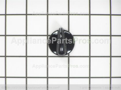 GE Knob Bk/ss WB03X10140 from AppliancePartsPros.com