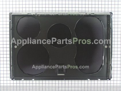 GE Maintop Glass Asm (bk WB62T10525 from AppliancePartsPros.com