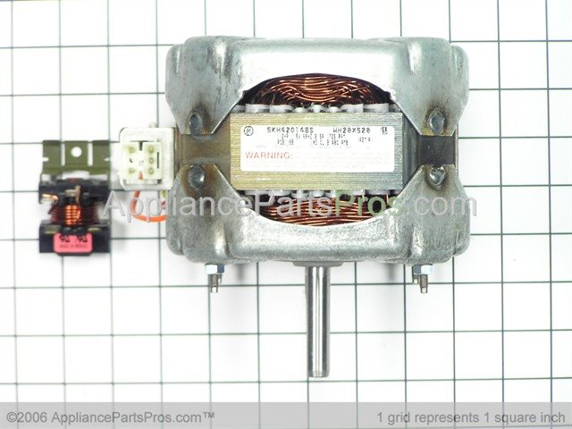 Ge wh20x520 motor 1 2 hp for Us electric motor serial number lookup