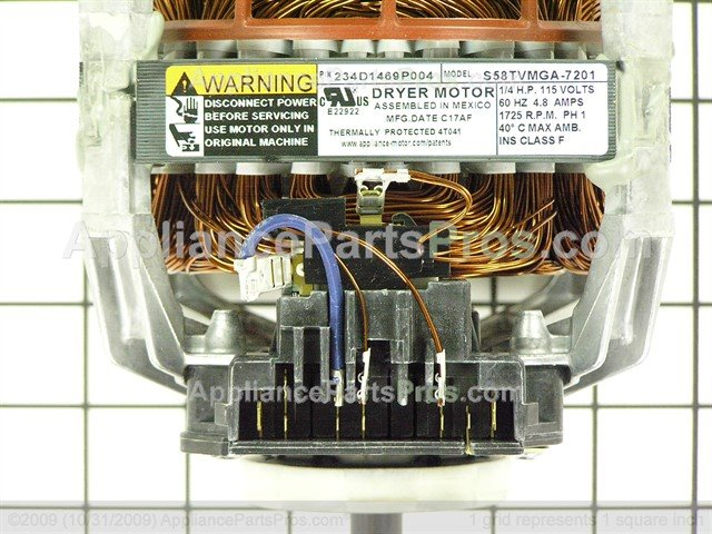 ge motor kit we17x10010 ap4295548_03_l ge we17x10010 dryer motor kit appliancepartspros com we17x10010 wiring diagram at fashall.co