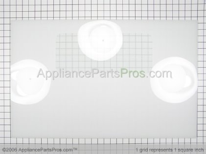 GE Outer Door Glass, White WB57K3 from AppliancePartsPros.com