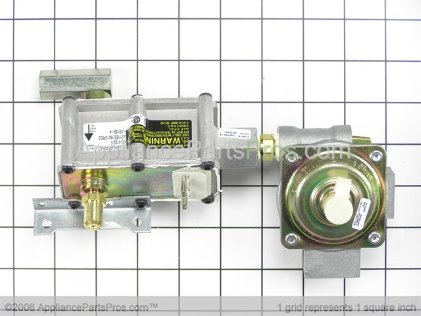 GE Oven Gas Valve Regulator Assembly WB19K10041 from AppliancePartsPros.com